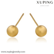 boucles d'oreille plaquées par or 24k de mode, petites boucles d'oreille d'or