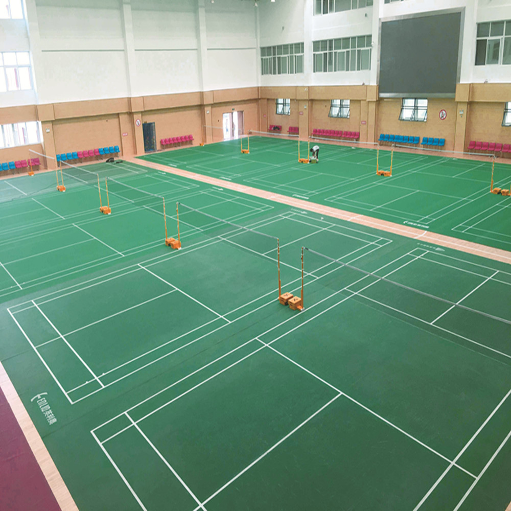 SYNTHETIC PVC BADMINTON COURT MAT