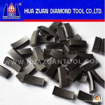 Roof Type Stein Diamantbohrkrone Segmente zum Verkauf