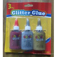 Pegamento Glitter 40ml con plata y color oro