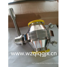Sanitary Stainless Steel Threaded Welded Clamp Butterfly-Ball Valve