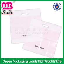 color designable pe die cut plastic bag for packing suits garment