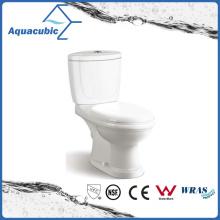 Washdown Two Piece Dual Flush Toilet in White (ACT6833)