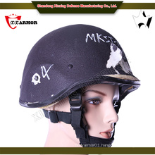 4 point chin strap harness carbon fiber ballistic helmet
