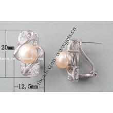 Gets.com 925 prata esterlina mens earing stud 6 milímetros