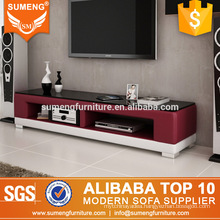 fashionable design furniture leather tv stand made in china