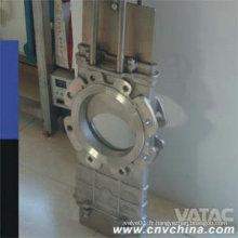 Lug Ends Wcb / CF8 / CF8m à travers la vanne de porte à couteau à conduits