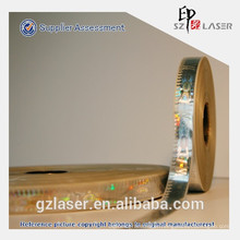 10mm width hot stamping hologram foil sticker for blister packaging