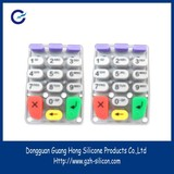 OEM ISO Good abrasion remote control silicone keypad for calculator