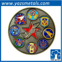 kundenspezifische Militärmünze, nach Maß Luftwaffe ETDC Münze mit antiker Farbenüberzug