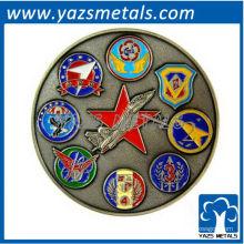 изготовленные на заказ воинские монетки, изготовленные ВВС ETDC монета антикварный цвет покрытие