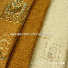 Embroidered Polyester Suede Fabric, 75 x 225, 105 x 150, 105 x 200, 105 x 300 Construction