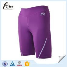 Shorts feitos sob encomenda do esporte das mulheres do desgaste de compressão