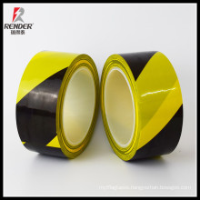 Excellent wearability and Special bright Black Yellow PVC Warning Tape Bias Binding Tape Elastic