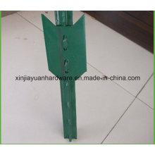 Poteau vert tissé à la teinture avec pelle pour jardin / vignoble