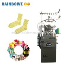 Línea de producción de calcetines industriales completamente computarizados de un solo cilindro para hacer calcetines de algodón