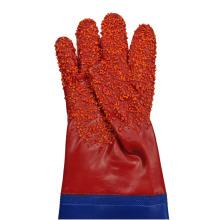 Красный плащ из гранулированного ПВХ с рукавами, перчатки 60см