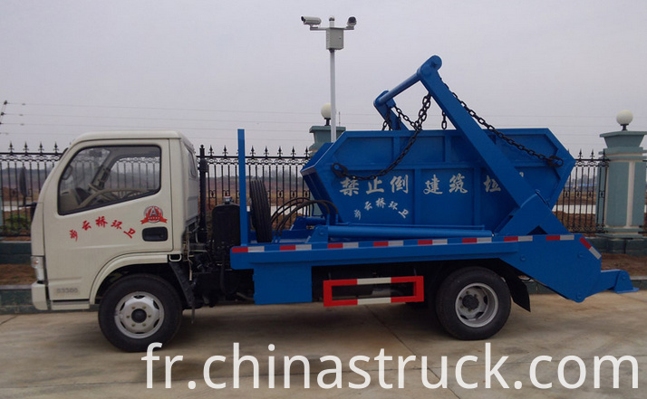 Swing arm container garbage truck