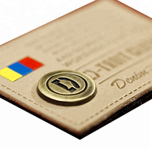 Professional private label leather and metal patch for garment