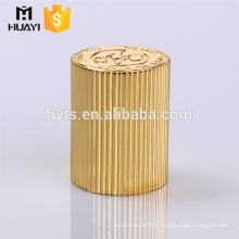 gold cylinder zamac perfume cap