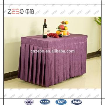 Hochwertige Jacquard-Stoff Rechteck Bankett Tisch Röcke Großhandel