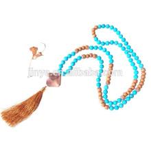 108 Yoga Turquoise Mala Beaded Necklace
