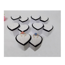 Heart Shaped Jewelry Couple Ring Display Holder Wholesale (R-2)