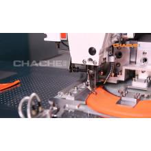 Máquina de costura totalmente automática com viseira de tampa
