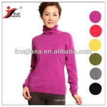100% cashmere knitting Basic design women's sweater