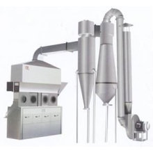 Horizontal fluid bed dryer for chemical industry for powder material