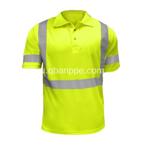 high visibility polo tshirt yellow hot selling
