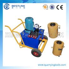 Elétrica ou Diesel hidráulica Jack máquina para empurrar pedra