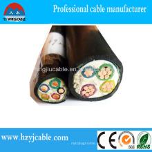 Cable de alimentación de baja tensión de la vaina del PVC del cable eléctrico de XLPE