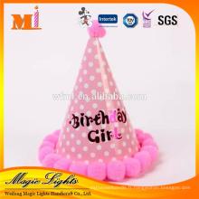 Matériel de papier et casquettes de fête d'anniversaire jetables