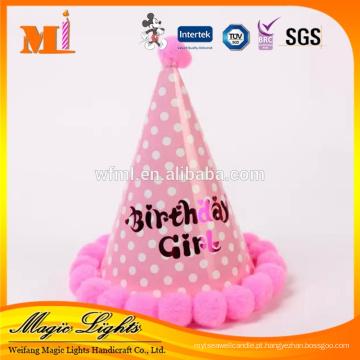 Material de papel e tampas de festa de aniversário descartáveis