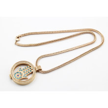 Hot Sale Rose Gold Plating Living Locket Necklace