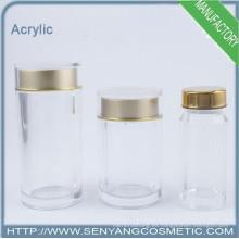Cajas de acrílico con tapas cosméticos frasco jarra de vidrio cosméticos