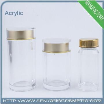 Caixas de acrílico com tampas cosméticos jar vidro frasco de cosméticos