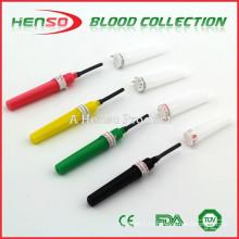 Игла Хьюло с несколькими образцами крови