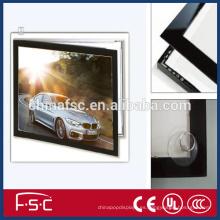 Caja ligera del marco ultra delgado aluminio led magnética de fábrica