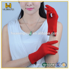 Venta al por mayor Pantalla táctil para mujer Guantes de lana roja para smartphone
