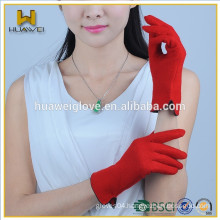 Wholesale Womens Touch screen Red Woolen smartphone Gloves