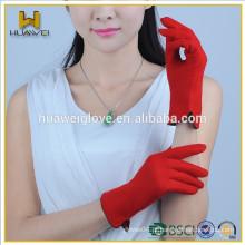 Atacado Womens Touch tela Red Woolen smartphone luvas