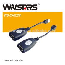 USB 2.0 Extensão adaptador LAN ethernet, cabo de extensão USB de 150 m, auto-alimentado