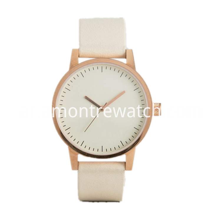 Rose-gold stainless steel case