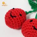 Chaveiro de cereja de crochê Chaveiro com borla