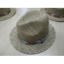2016 Dernier chapeau de paille de nouvelle mode avec maillot tissé Mesh SW-080017