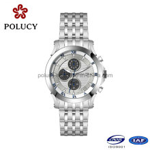316L Stainless Steel Quartz Chronogaph Watch for Men