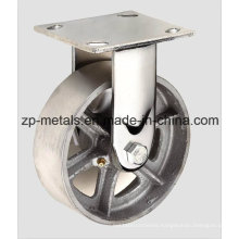 Heavy-Duty Casting Iron Fixed Caster Wheel