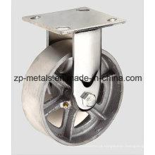 Rodas de rodízio fixo de ferro fundido para serviço pesado